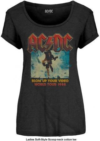 AC/DC Fashion Tee Blow Up Your Video L dámské Black L