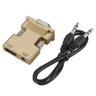 Adaptér HDMI na VGA s audio kabelem Barva: zlatá