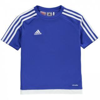 Adidas 3 Stripe Sereno T Shirt Junior Boys pánské Bold Blue S