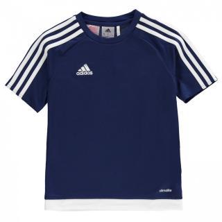 Adidas 3 Stripe Sereno T Shirt Junior Boys pánské Navy S