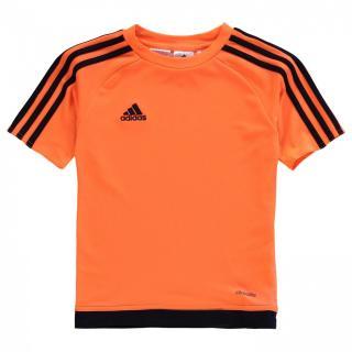 Adidas 3 Stripe Sereno T Shirt Junior Boys pánské Solar Orange   Other S