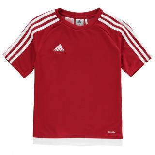 Adidas 3 Stripe Sereno T Shirt Junior Boys pánské UniRed S