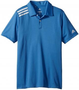 Adidas 3-Stripes Tournament Chlapčenské Golfové Polo Trace Royal 13-14Y pánské Blue 13 - 14 Y