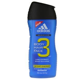 Adidas A3 Sport Energy sprchový gel pro muže 3 v 1 250 ml pánské 250 ml