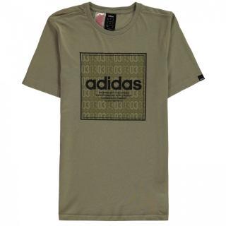 Adidas Box Linea Texture QT T Shirt Junior Boys pánské Other 7-8 Y