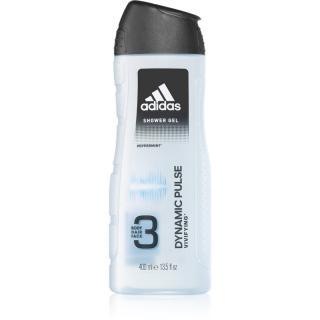 Adidas Dynamic Pulse sprchový gel na obličej, tělo a vlasy 3 v 1 400 ml pánské 400 ml