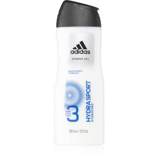Adidas Hydra Sport sprchový gel na obličej, tělo a vlasy 3 v 1 400 ml pánské 400 ml