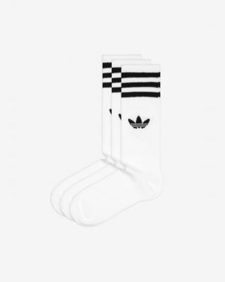 adidas Originals Solid Crew Ponožky 3 páry Bílá pánské 43-46