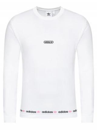 adidas S dlouhým rukávem Linear Repeat GN3880 Bílá Regular Fit pánské S