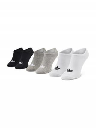 adidas Sada 3 párů nízkých ponožek unisex Trefoil Liner FT8524 Bílá 35_38