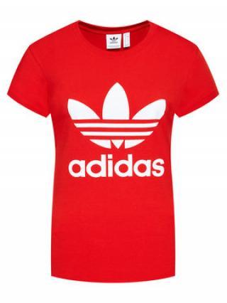 adidas T-Shirt adicolor Classics Trefoil GN2902 Červená Regular Fit dámské 12A