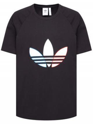 adidas T-Shirt adicolor Tricolor GQ8919 Černá Regular Fit pánské XS