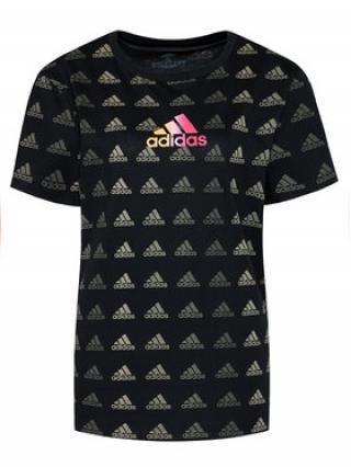 adidas T-Shirt Essentials Boyfriend Gradient Logo Tee GM5558 Černá Relaxed Fit dámské XS