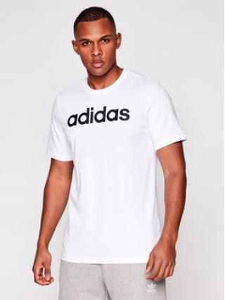 adidas T-Shirt Essentials Linear Logo DQ3056 Bílá Standart Fit pánské L