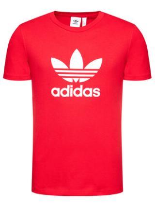 adidas T-Shirt Trefoil GN3468 Červená Regular Fit pánské S