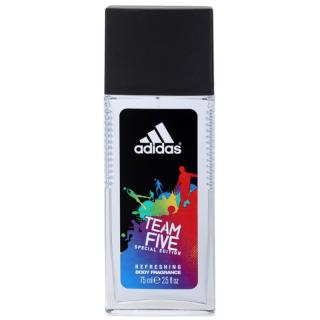 Adidas Team Five deodorant s rozprašovačem pro muže 75 ml pánské 75 ml