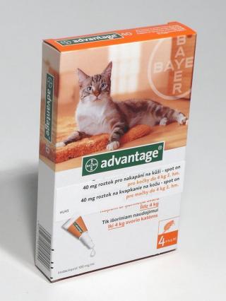 Advantage spot-on kočka do 4kg