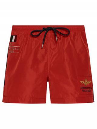 Aeronautica Militare Plavecké šortky 211BW201CT1537 Červená Regular Fit pánské 54
