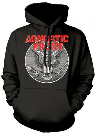 Agnostic Front Against All Eagle Hooded Sweatshirt S pánské Black S