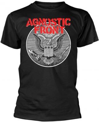 Agnostic Front Against All Eagle T-Shirt M pánské Black M