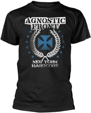 Agnostic Front Blue Iron Cross T-Shirt XL pánské Black XL