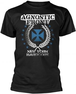 Agnostic Front Blue Iron Cross T-Shirt XXL pánské Black 2XL