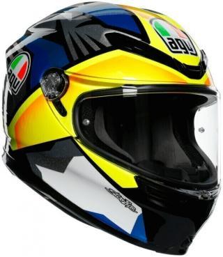 AGV K-6 Black/Blue/Yellow M/L Přilba M/L