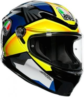AGV K-6 Black/Blue/Yellow S/M Přilba S/M