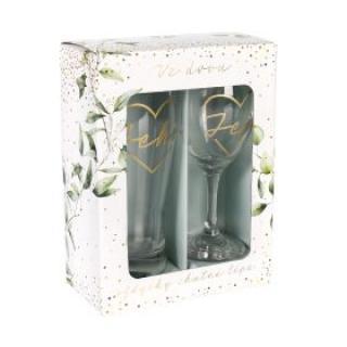 ALBI Svatební set sklenice s půllitrem