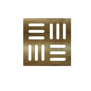 Alcaplast Designová mřížka 102×102 mm bronz-antic MPV001-ANTIC