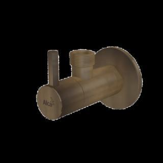 Alcaplast rohový ventil s filtrem 1/2×1/2, kulatý, bronz-antic ARV003ANTIC