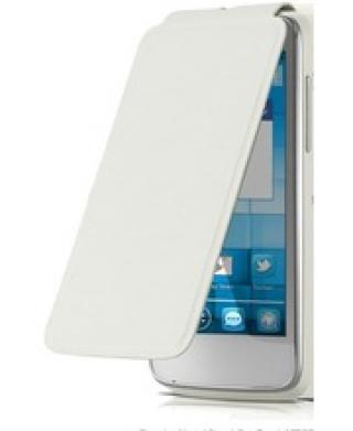 ALCATEL ONE TOUCH 4033D POP C3 Flip pouzdro, White