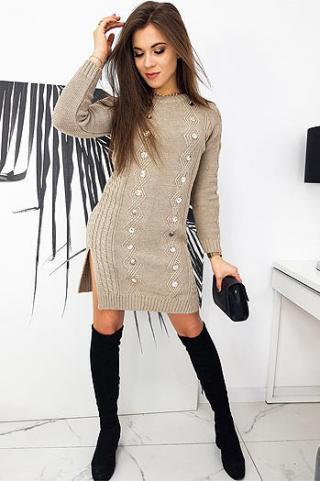 ALETA beige dress EY1423 dámské Neurčeno One size