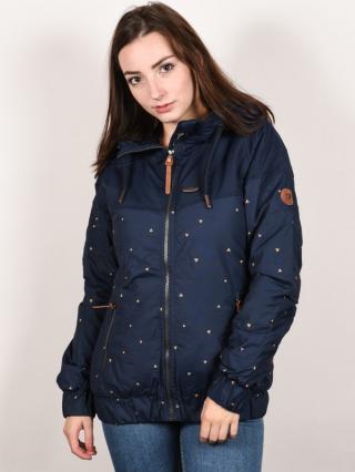 Alife and Kickin BLACK MAMBA marine AOP zimní dámská bunda - modrá dámské S