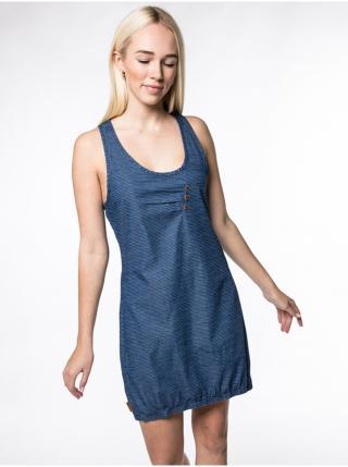 Alife and Kickin CAMERONAK D dark denim krátké letní šaty - modrá dámské XS