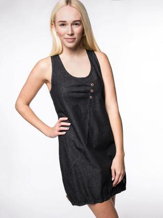 Alife and Kickin CAMERONAK MOONLESS krátké letní šaty - černá dámské S