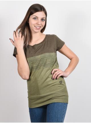 Alife and Kickin CLEAAK DUST dámské triko s krátkým rukávem - zelená dámské XS