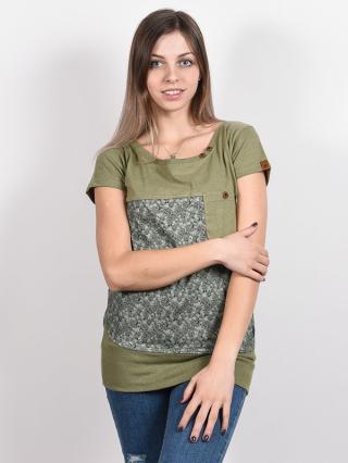 Alife and Kickin CORAAK DUST dámské triko s krátkým rukávem - zelená S