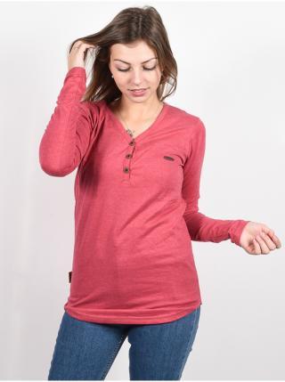 Alife and Kickin DaisyAK CRANBERRY dámské triko s dlouhým rukávem - růžová dámské XS