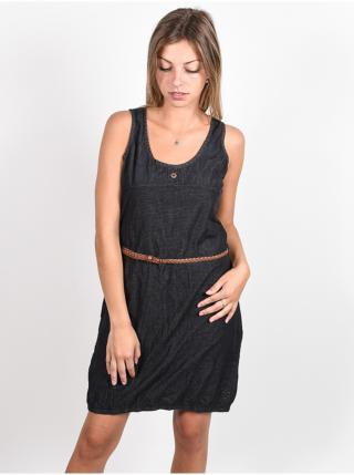 Alife and Kickin DOJAAK black denim krátké letní šaty - černá dámské XS