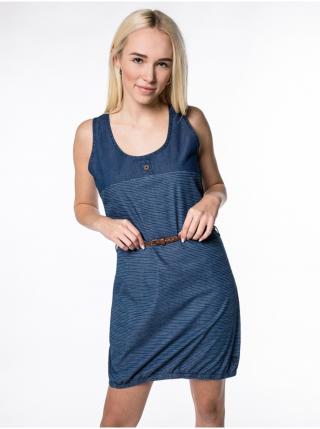 Alife and Kickin DOJAAK dark denim krátké letní šaty - modrá dámské XS