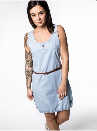 Alife and Kickin DOJAAK light denim krátké letní šaty - modrá dámské XS