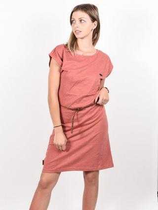 Alife and Kickin ELLIAK Mahagonium krátké letní šaty - červená dámské L
