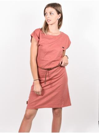 Alife and Kickin ELLIAK Mahagonium krátké letní šaty - červená dámské S