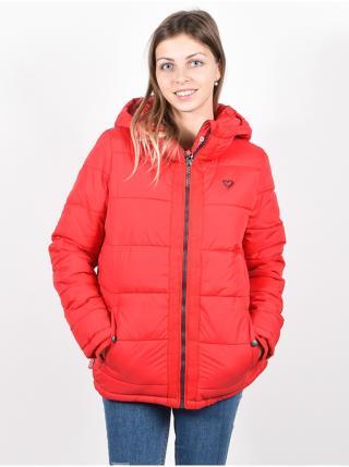 Alife and Kickin JanisAK FIESTA zimní dámská bunda - červená dámské XS