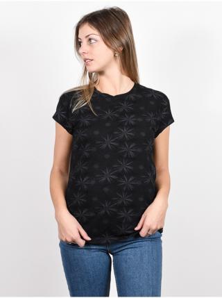 Alife and Kickin MimmyAK AOP MOONLESS dámské triko s krátkým rukávem - černá dámské XS
