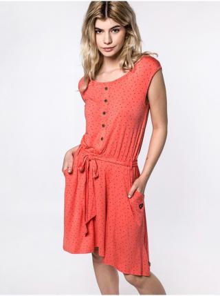 Alife and Kickin SCARLETTAK CORAL krátké letní šaty - červená dámské XS