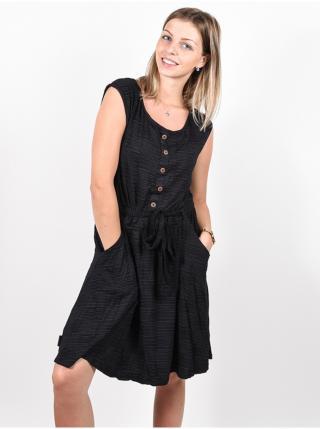 Alife and Kickin SCARLETTAK MOONLESS krátké letní šaty - černá dámské XS