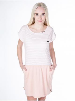 Alife and Kickin SHANNA candy stripes krátké letní šaty - růžová dámské L