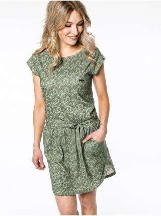 Alife and Kickin THEAAK DUST krátké letní šaty - zelená dámské L
